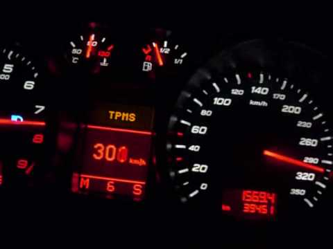 Audi R8 4.2 V8 R-Tronic @ limit. Flat out! Top Speed Run - HD - YouTube