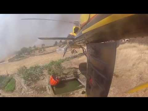 AS350 Helicopter Fire Fighting 2012