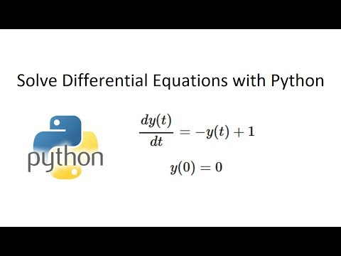 Solve Differential Equations with ODEINT | Dynamics and Control