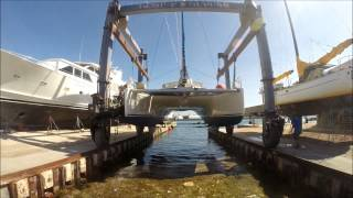 Launching our Catamaran and first ever Sea-trial - s/v Catchin' Rays