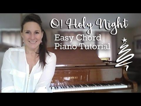 O Holy Night - Easy Chord Piano Lesson | Christmas Carol | Free Piano Lesson