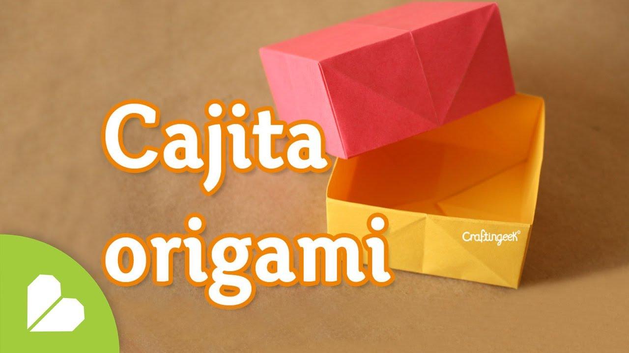 Como hacer caja origami basica y facil youtube - Como hacer cajitas de cartulina ...
