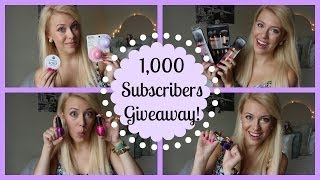 1,000 SUBSCRIBERS GIVEAWAY!! ♡ Thumbnail