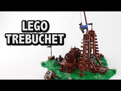 Functional LEGO Trebuchet Middle Ages War Machine
