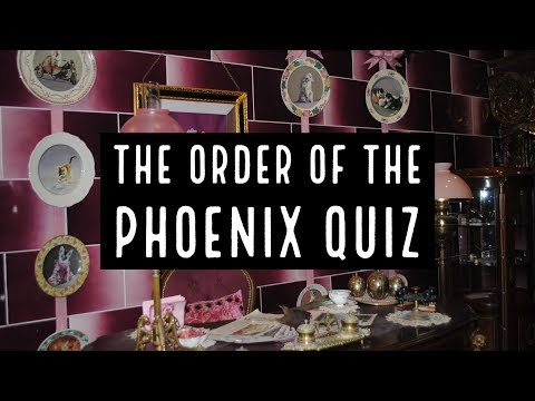 The Order Of The Phoenix Book Quiz