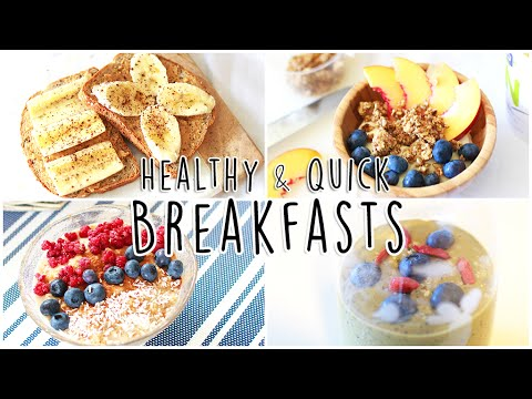 Healthy & Quick Breakfast Ideas // In Less Than 5 Minutes!!
