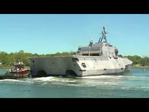 Raw video: USS Manchester arrives at state pier in Portsmouth