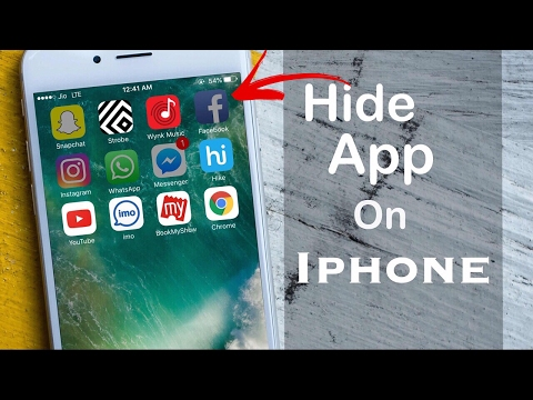 How to hide apps on my iphone 5