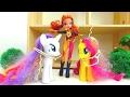 Видео с игрушками. Детский канал. Игры с Май Литл Пони.   🦄 Флаттершай и Рарити заколдованы 🧙