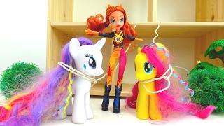 Видео с игрушками Литл Пони -  Флаттершай и Рарити заколдованы