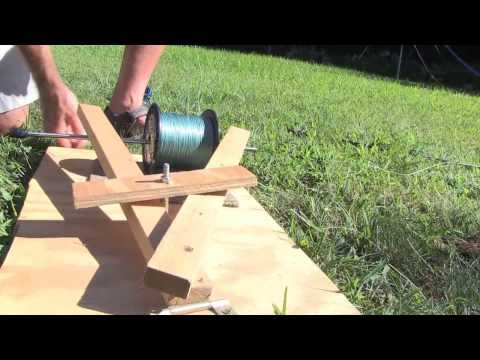 How To Make A Line Winding Machine For Fishing Reels
