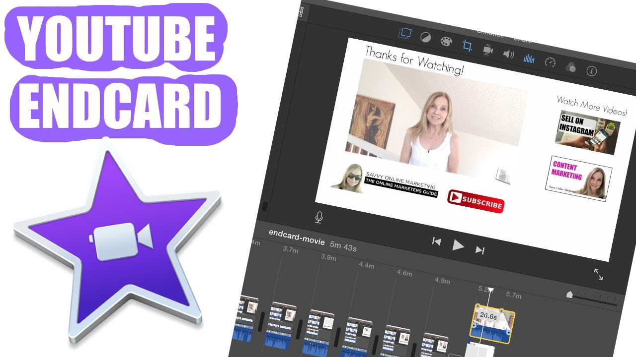 how to make a youtube end card in imovie youtube
