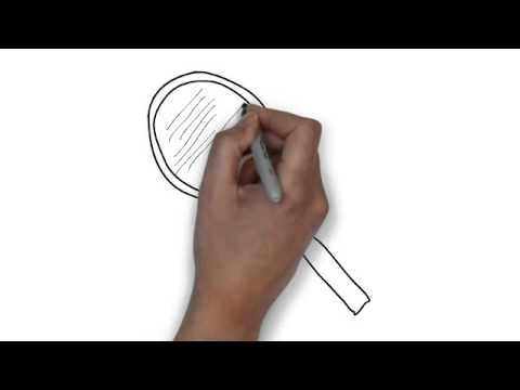 How To Draw Tennis Racquet Youtube