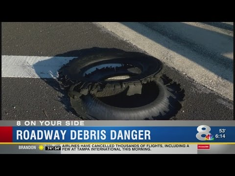 Junk on roads a driving hazard in Tampa Bay area