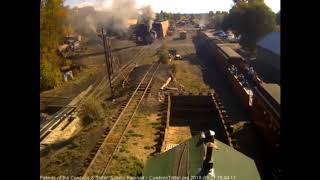 9/21/2018 Eight car train 215 arrives into Chama, NM