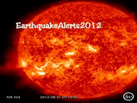 Earthquake Alerts 2012 - 1st September - Massive Solar Flare To Bring More Earthquake Activity
