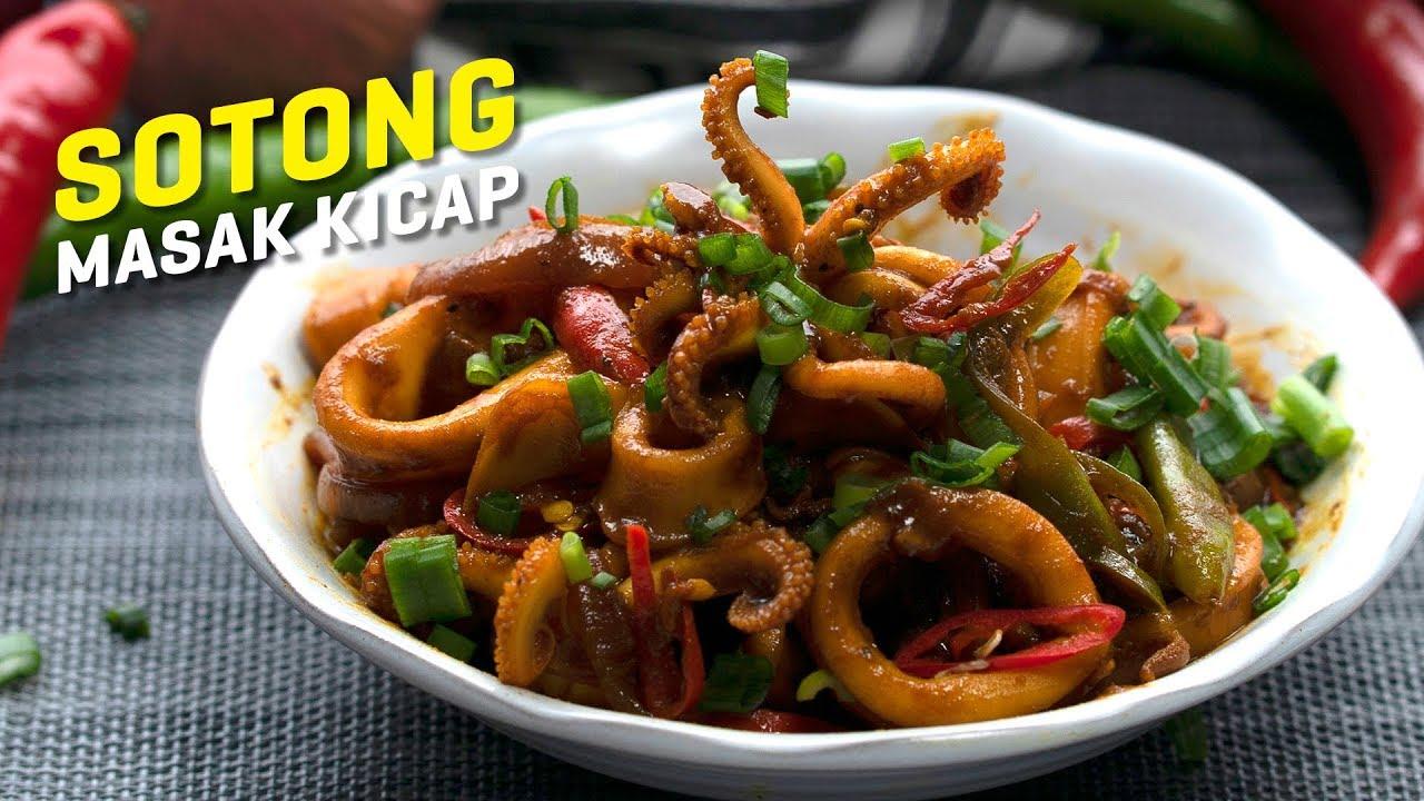 Resepi Sotong Masak Kicap Stir Fried Squid With Soy Sauce Seismik Makan