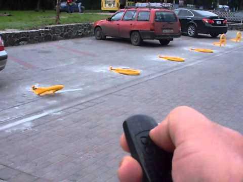Автоматические парковочные барьеры CAME UNIPARK установленые мною в Черкассах