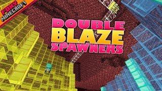 Minecraft | DOUBLE BLAZE SPAWNER  | Bedrock Survival Realm [69]