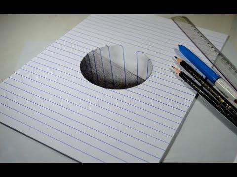 Ilusão De ótica Como Desenhar Buraco 3d Passo A Passo