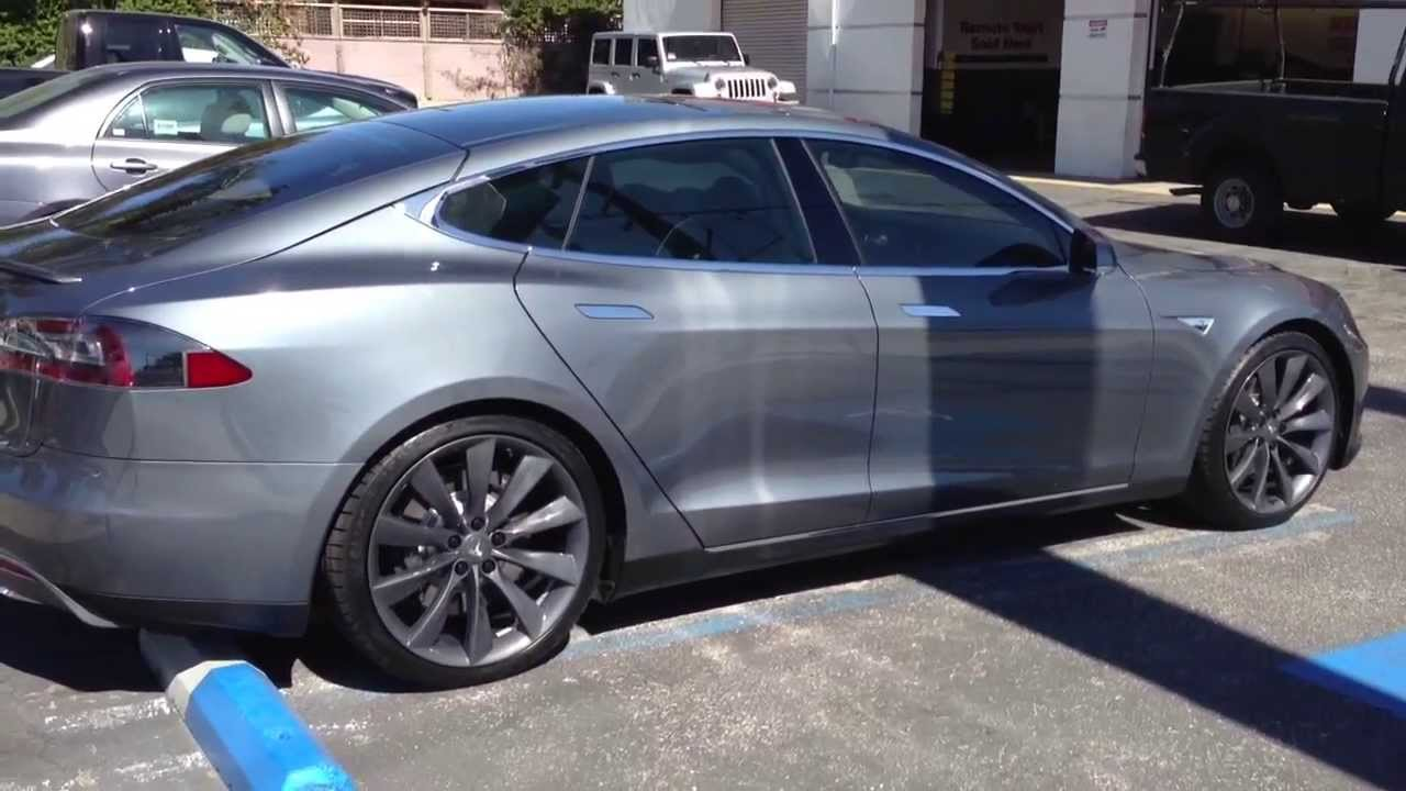 Tesla Model S After Window Tint Specialists Los Angeles