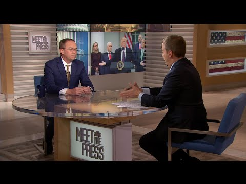 Full Mulvaney: Trump 'wants to solve immigration' | Meet The Press | NBC News