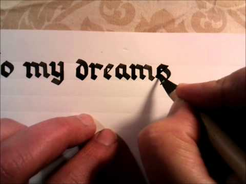 Latin Calligraphy using Reed Pen. A Milkyroad Video.