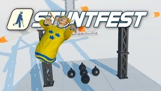 Stuntfest - Long Jumping Swede! - Ragdoll Physics Meets Wreckfest! Stunt Fest Gameplay