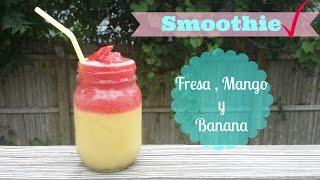 Licuado Saludable Mango, Banana Y Fresa