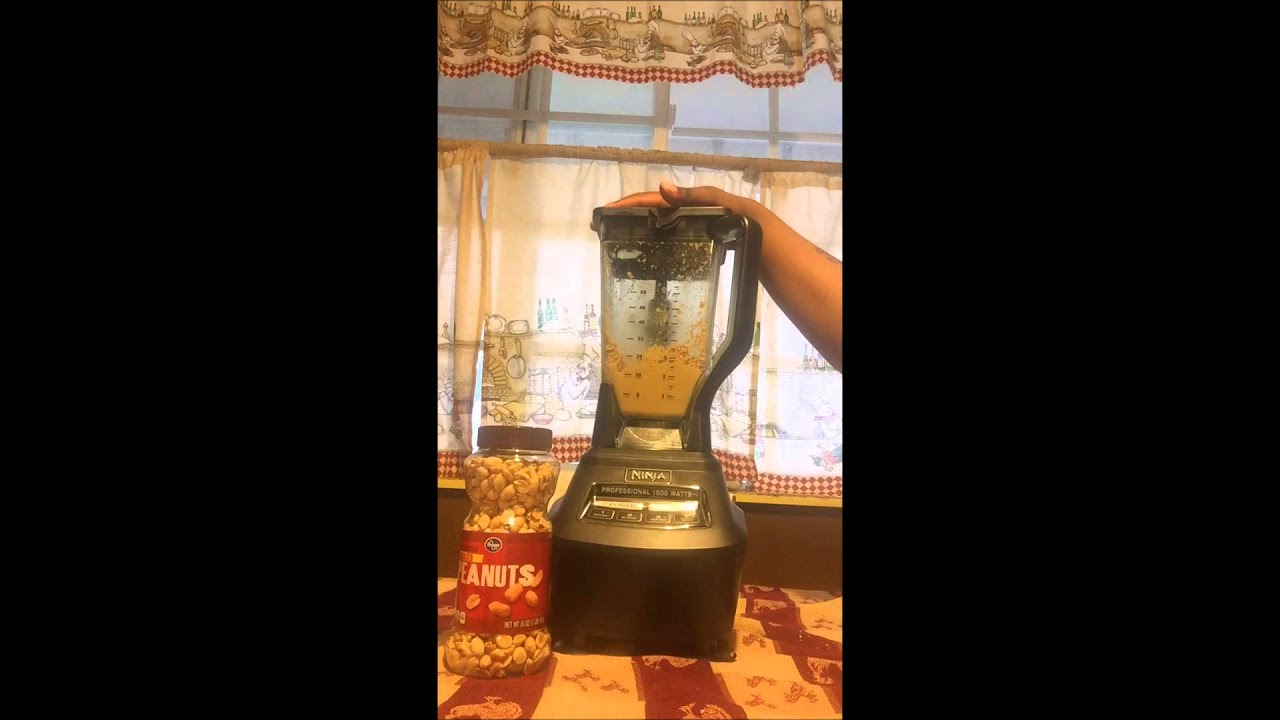 making peanut butter nutri ninja mega kitchen system 1500 youtube