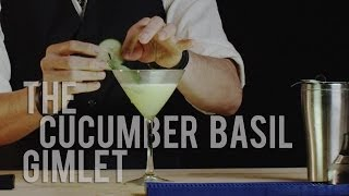 How To Make The Cucumber Basil Gimlet - Best Drink Recipes