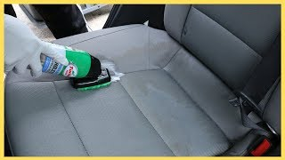 How to clean ugly car stain with Turtle Wax Upholstery Cleaner