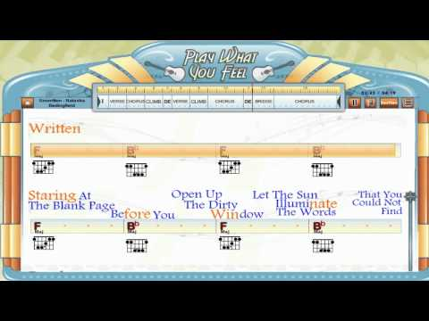 Unwritten - Natasha Bedingfield - Guitaraoke, Chords & Lyrics ...