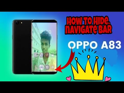 How to Hide/disable navigation bar in Oppo a83 by