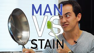 Cleaning Stainless Steel Pans (Tool Tuesday) - BenjiManTV