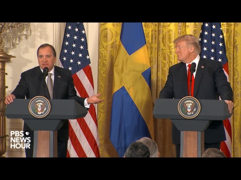 WATCH: President Trump holds joint press conference with Swedish Prime Minister