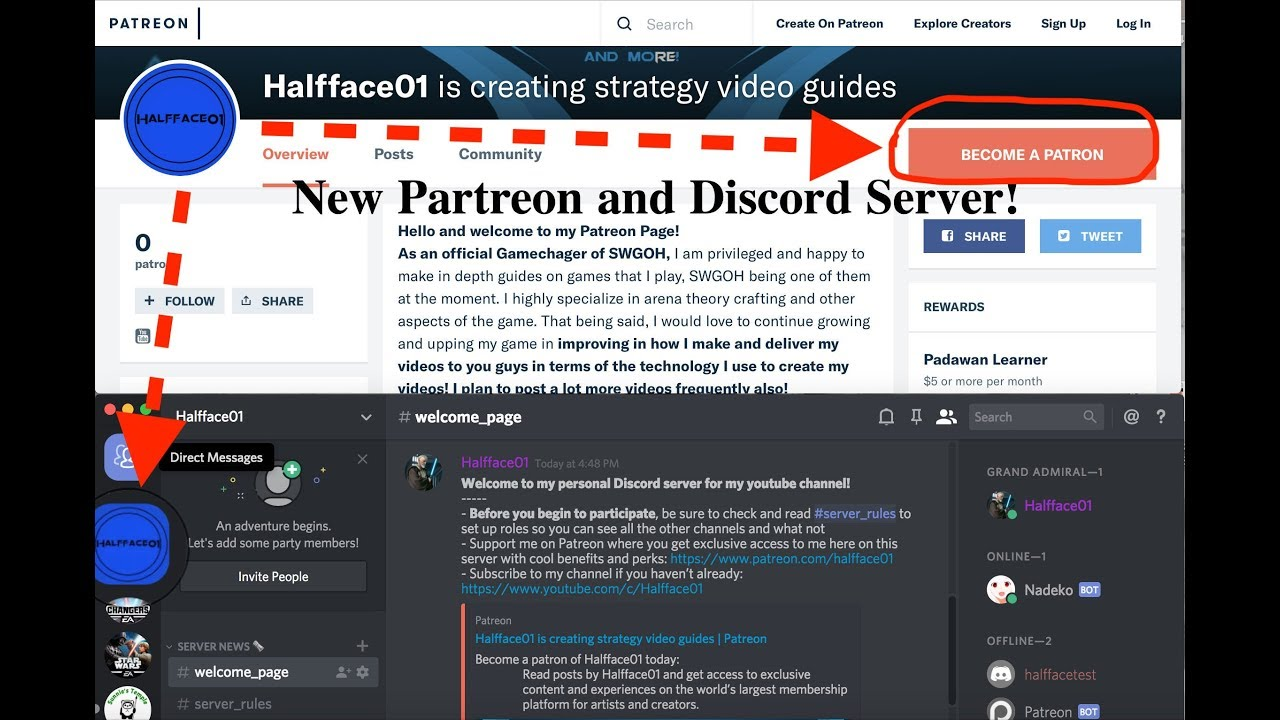 CHANNEL UPDATE! New DISCORD CHANNEL SERVER & PATREON! WE HIT 1K SUBS!