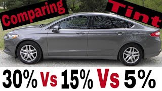 Comparing Window Tint! 30% vs 15% vs 5%