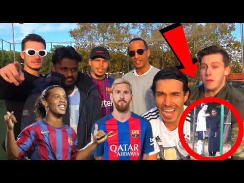 FC BARCELONA FUßBALL CHALLENGE + STRESS😱