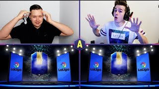 2x TOTS LA LIGA W PACK AND PLAY! QS TOTS! ADRYAN VS DEXU | FIFA 19