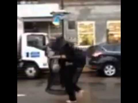 Video of masked man dumps backpack at Boston Marathon finish line