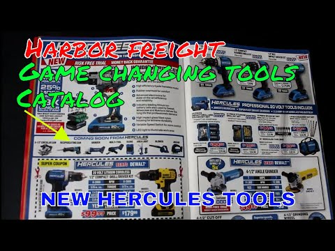 Harbor freight tool catalog Game changing tools! for October 2017 NEW HERCULES TOOLS! My opinions!!!
