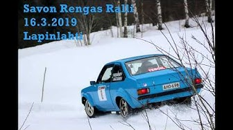 Savon Rengas Ralli, Lapinlahti, 16.3.2019