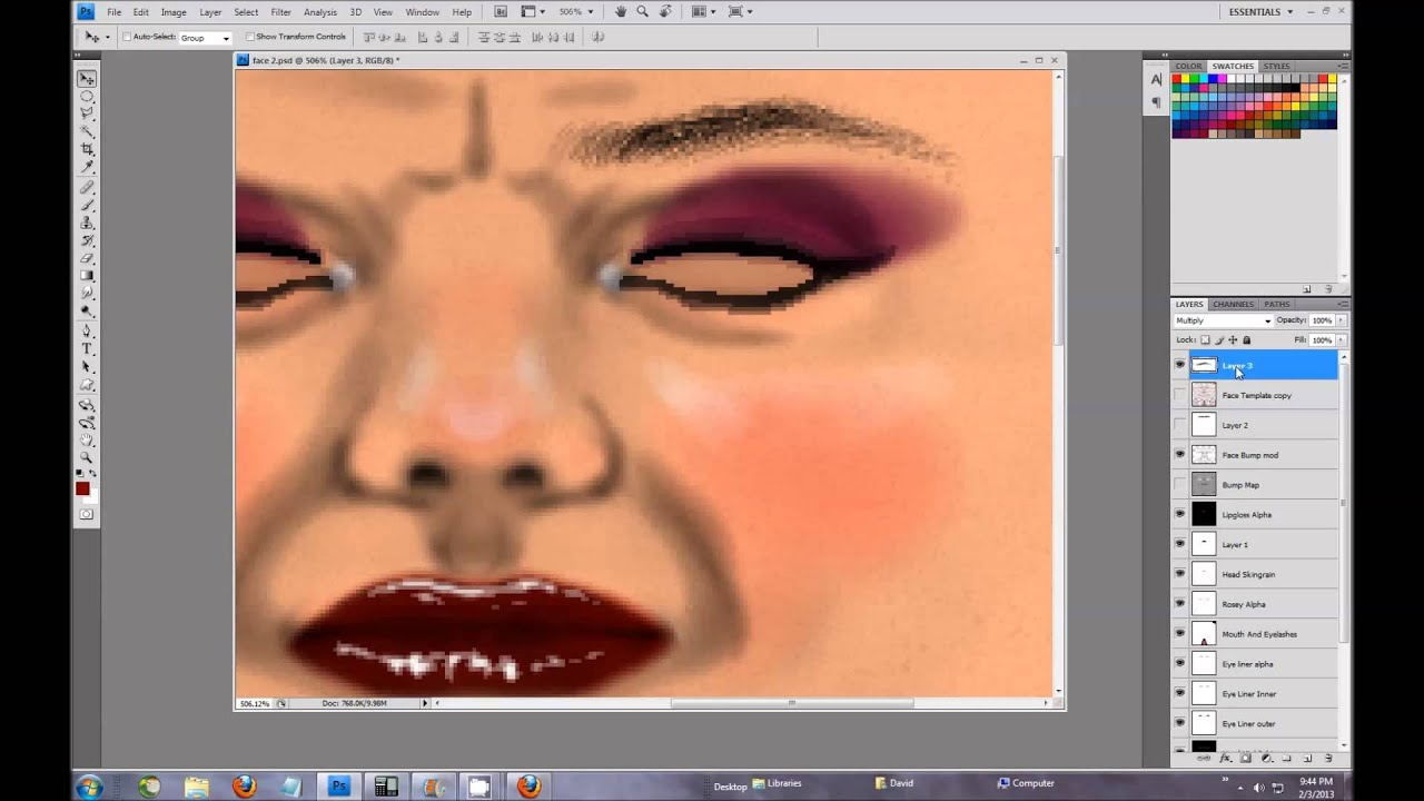 how to make second life skin with photoshop by quark yifu youtube