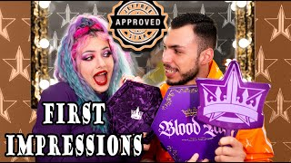 Δοκιμάζουμε την νέα παλέτα του Jeffree Star (Blood Lust) feat. Tsede The Real | Katerina Vlachou
