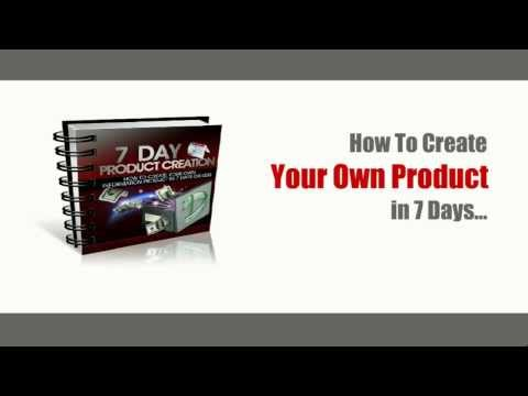 How To Create Your Own Information Product in 7 Days Course