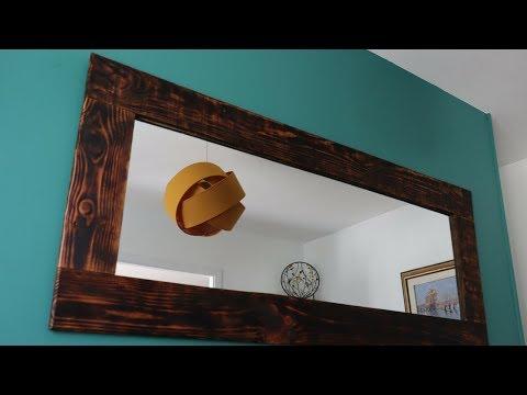 DIY Shou-sugi-ban mirror frame!!!