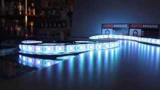 Светодиодная лента RGB разноцветная Бийск(Светодиодная лента RGB разноцветная В комплект входит светодиодная лента 5 метров Блок управления с пультом..., 2015-02-07T06:54:02.000Z)