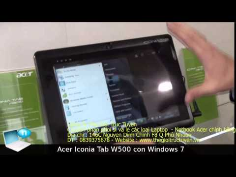 May tinh bang Acer Iconia tab w500