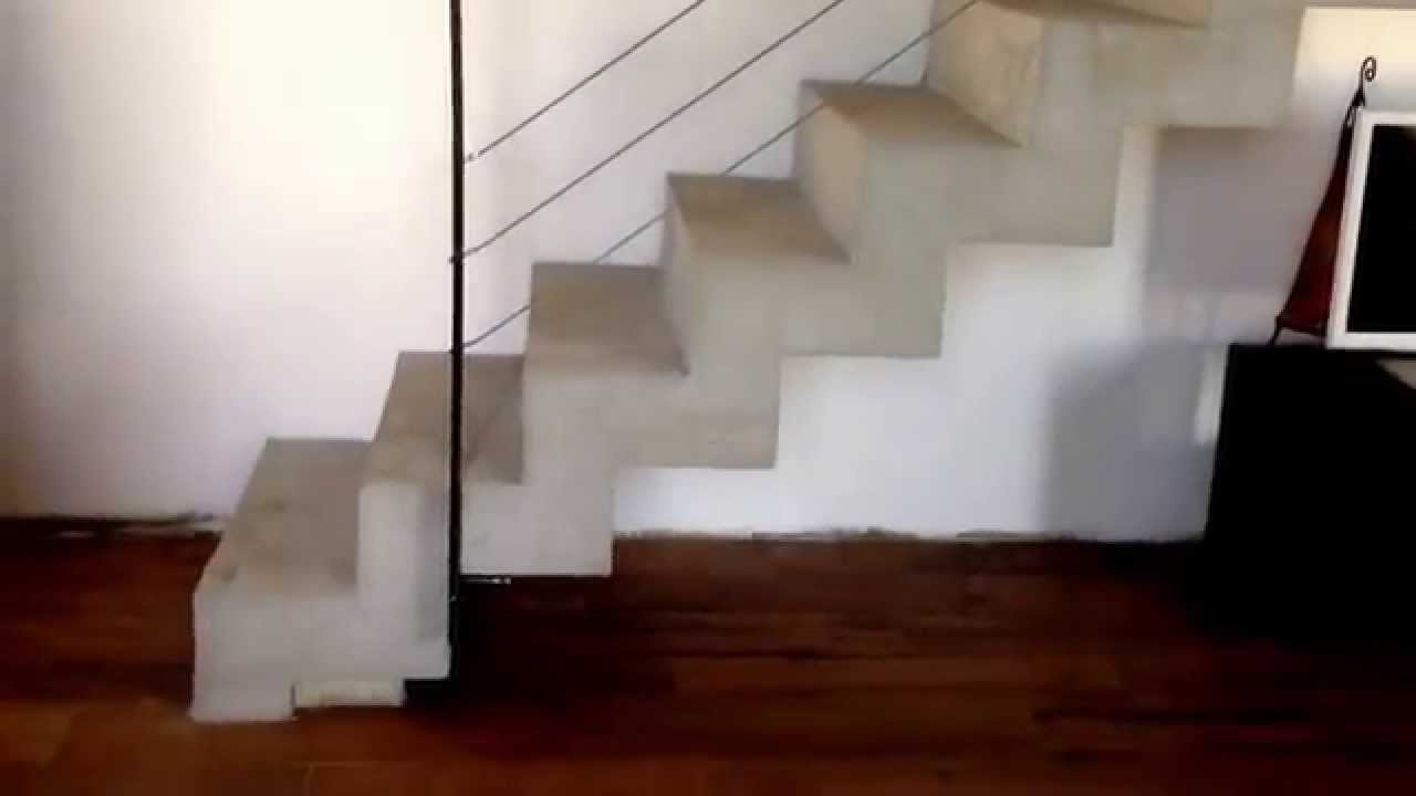 escalier b ton cr maill re youtube. Black Bedroom Furniture Sets. Home Design Ideas